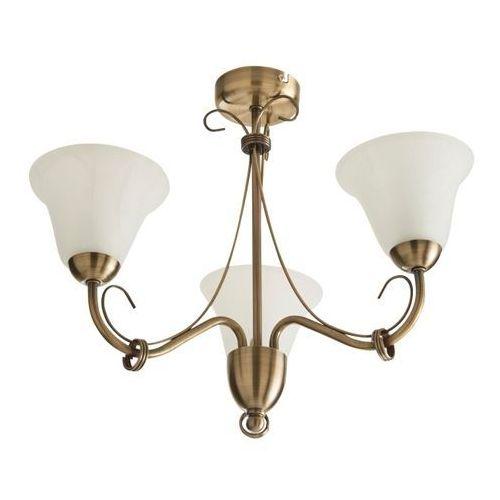 Lampa sufitowa Colours Dives 3 x 60 W E14 złoto antyczne
