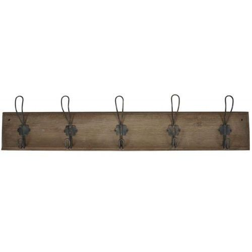 Ib Laursen - Wieszak Drewniany Brązowy z 5 Metalowymi Haczykami