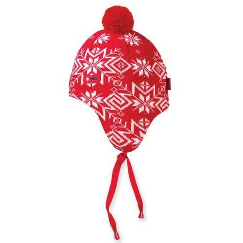 Dziecięca dziana czapka Kama BW18 - Windstopper 104 czerwona
