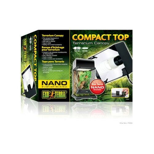 Exoterra oprawa oświetleniowa compact top nano 20x9x15cm - darmowa dostawa od 95 zł! marki Exo terra