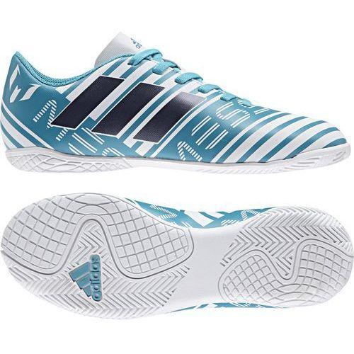 Buty s77208 nemeziz messi 17.4 in junior (rozmiar 38 2/3) biało-niebieski + darmowy transport! marki Adidas