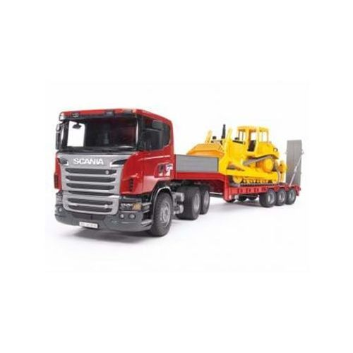 Bruder Scania R-Series Low loader truck with CAT Bulldoze (4001702035556)