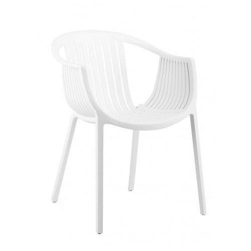 Krzesło ogrodowe Korente - białe, PP041.WHITE