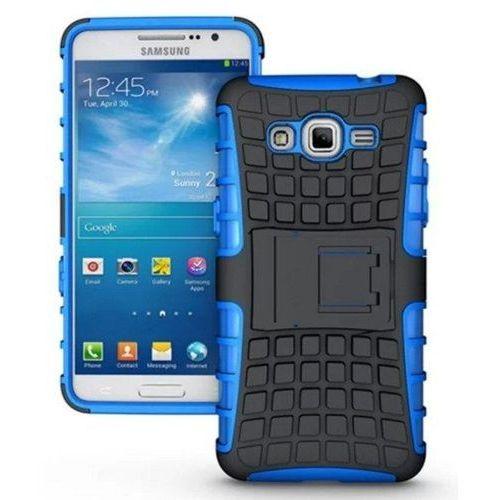 Perfect Armor Niebieski   Pancerna obudowa etui dla Samsung Galaxy Grand Prime - Niebieski - produkt z kategorii- Futerały i pokrowce do telefonów