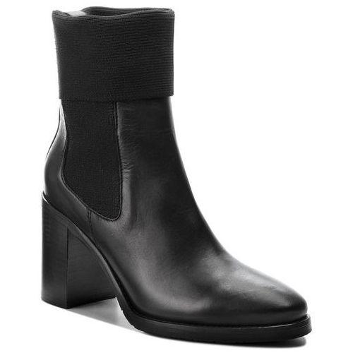 0038ec8f5337c Tommy hilfiger Botki - knitted sock heeled fw0fw03594 black 990