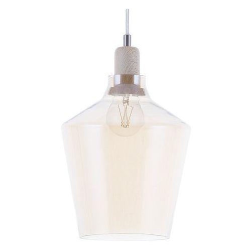 Beliani Lampa wisząca szklana bursztynowa santon