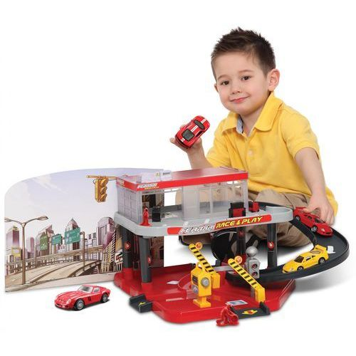 BBurago Ferrari Garaż Cetrum serwisowe + 1 auto