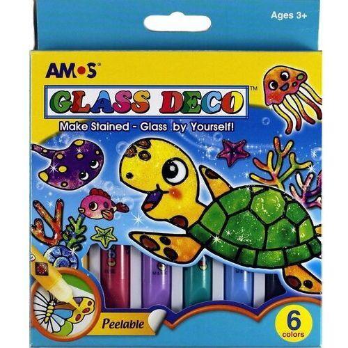 Farby witrażowe Glass Deco 6 kolorów blister AMOS, GD10P6