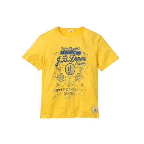 Bonprix T-shirt regular fit żółty