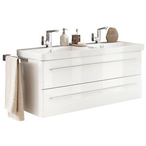 LANZET Szafka 120 cm z ceramiczną umywalką K8 - 120 cm \ Biały wysoki połysk