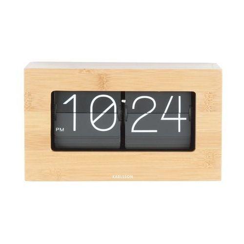 Zegar stołowo/ścienny Flip Clock Boxed bambus by Karlsson, KA5620WD