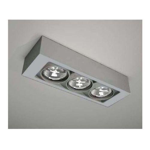 Plafon LAMPA sufitowa UTO 1145/G53/SZ Shilo natynkowa OPRAWA reflektorowa szary