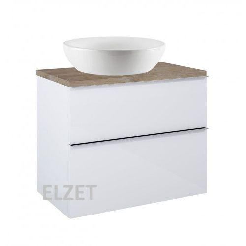 ELITA szafka Look 2S white pod umywalkę nablatową + blat 80 dąb classic 167081+166899
