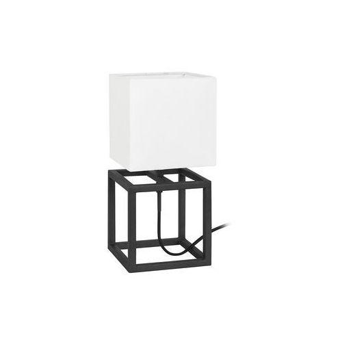 Stojąca lampa stołowa cube 107305 abażurowa lampka nocna do sypialni biała czarna marki Markslojd