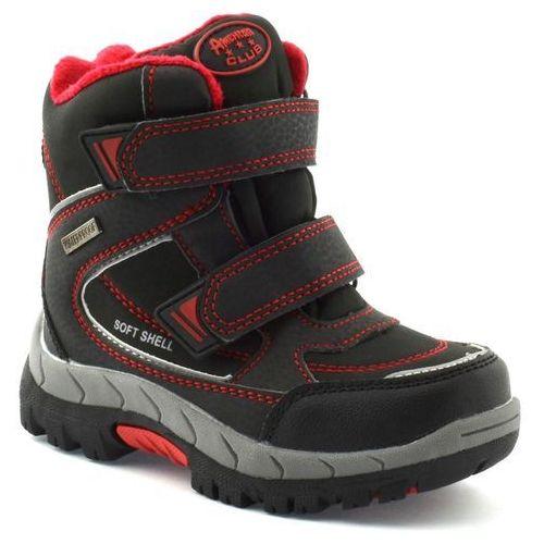 9f00614a76595 Śniegowce dla dzieci American Club PDA 3122 - Czerwony ||Czarny, kolor  czerwony