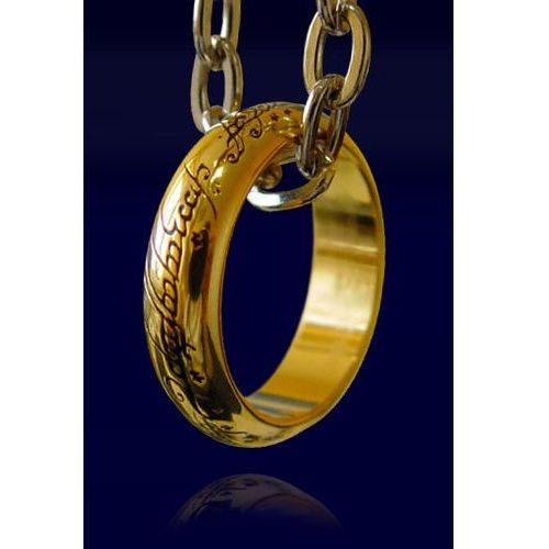 Pierścień z filmu władca pierścieni lotr ring the one ring (pozłacany) (nn0903) marki The noble collection