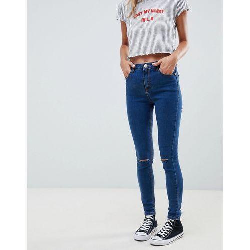 Glamorous ripped knee skinny jeans - blue
