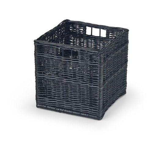 Halmar Wiklinowy kosz szuflada woody do przechowywania - czarny
