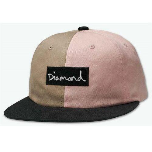 czapka z daszkiem DIAMOND - Split Script 2 Pan Strapback Pink (PNK) rozmiar: OS