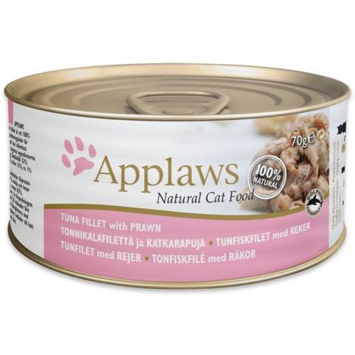 natural cat food filet z tuńczyka z krewetkami 156g marki Applaws