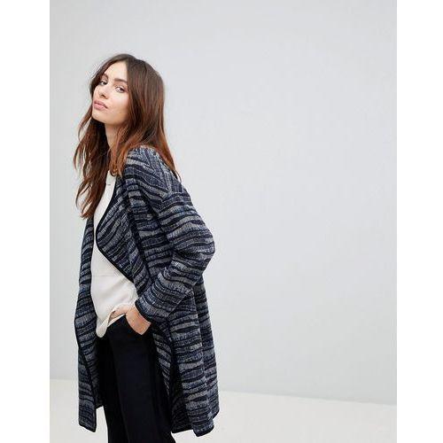coat in wave jacquard - navy marki See u soon