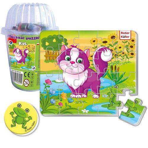 Magnesy piankowe puzzle Kot w kubku, RK1305-05