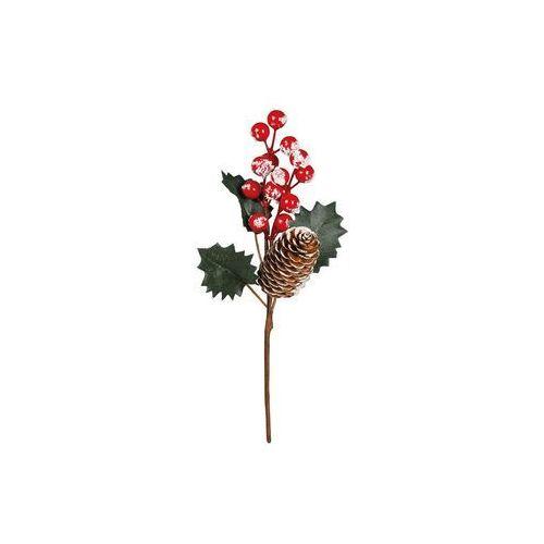 Dekoracja ostrokrzew ośnieżony - 25 cm - 1 szt.