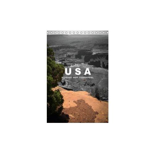 USA - Schwarz weiß Farbenspiel (Tischkalender immerwährend DIN A5 hoch)