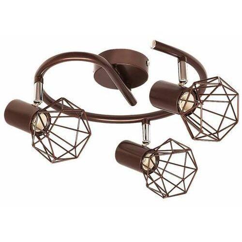 Plafon druciany lampa sufitowa spirala odin 3x40w e14 brąz 6884 marki Rabalux