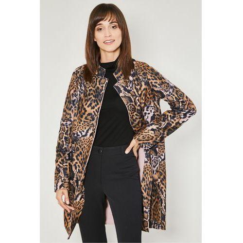 Click fashion Brązowy płaszcz jesienny breda