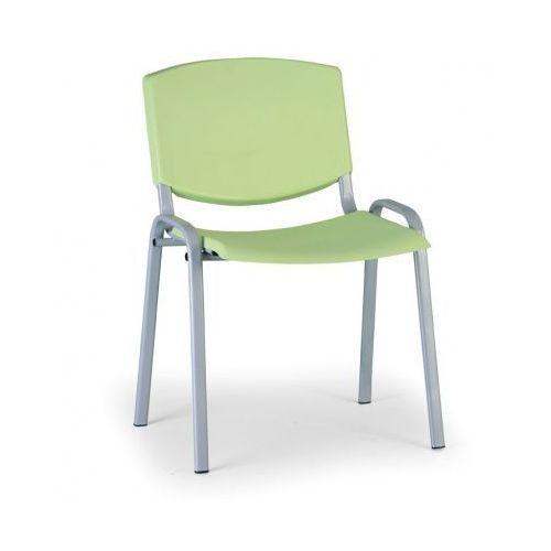 Krzesło konferencyjne Smile, zielony - kolor konstrucji szary