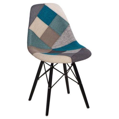 D2.design Krzesło p016w patchwork inspirowane dsw black - niebieski