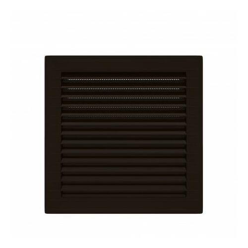 Kratka wentylacyjna skośna z siatką 14x14 brąz AirRoxy 0921 (5903351800921)