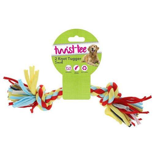 Bawełniany sznur dla psa - kość dla psów knot tugger small marki Happypet
