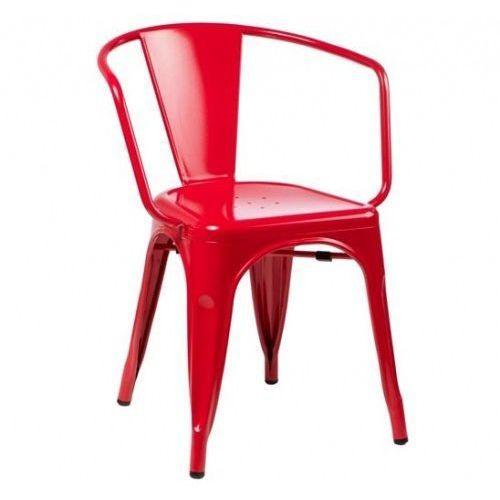 King home Krzesło metalowe industrialne tower arm czerwone - metal (5900168810280)
