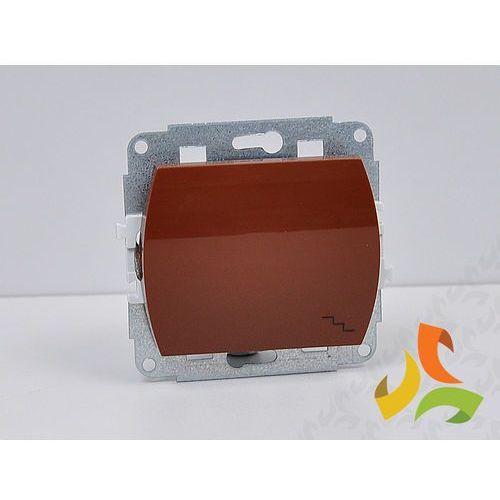 Wyłącznik schodowy podświetlany brązowy TREND