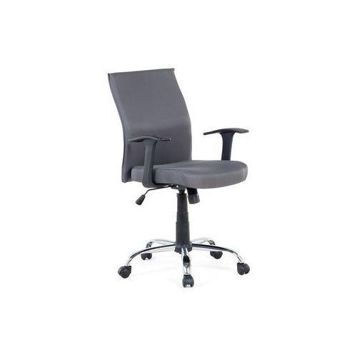 Krzesło biurowe - szare - obrotowe - tapicerowane - do komputera - ELITE