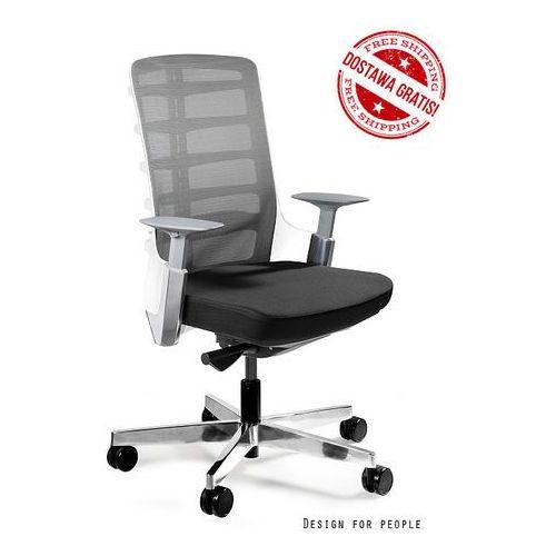 Fotel biurowy Unique SPINELLY M 998W - Biały, wysuw siedziska + 21 kolorów siedziska., Unique