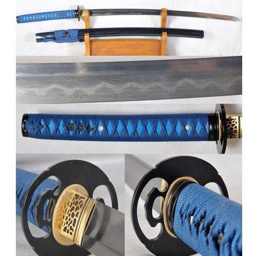 Japońska katana stal damasceńska hartowana glinką r1185 marki Kuźnia mieczy samurajskich