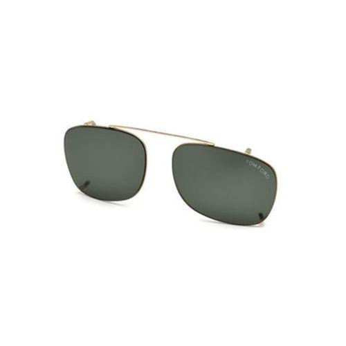 Tom ford Okulary słoneczne ft5501-cl clip on 28n
