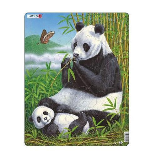 Puzzle maxi - panda s mládětem/33 dílků marki Neuveden