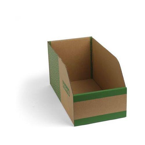 Skrzynki regałowe z kartonu, składane, opak. 75 szt., dł. x szer. x wys. 400x200 marki K bins limited