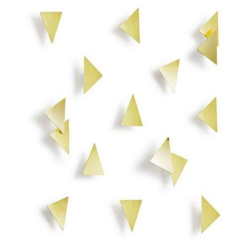 Umbra - dekoracja ścienna confetti - 16 szt - mosiądz