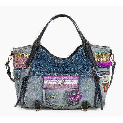 Desigual  torebka damska niebieski rotterdam exotic jeans, kategoria: torebki