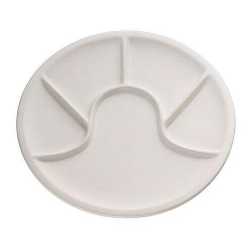 - talerz na dodatki fondue, biały - biały marki Kuchenprofi
