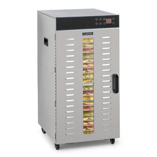Klarstein master jerky 300, suszarka do żywności, 2000 w, 40 - 90 ° c, 24 godz. czasomierz, stal nierdzewna, srebrna