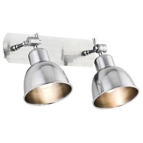Loftowa industrialna metalowa lampa ścienna kinkiet Argon Eufrat 2x60W E27 chrom 671 (5908259947013)