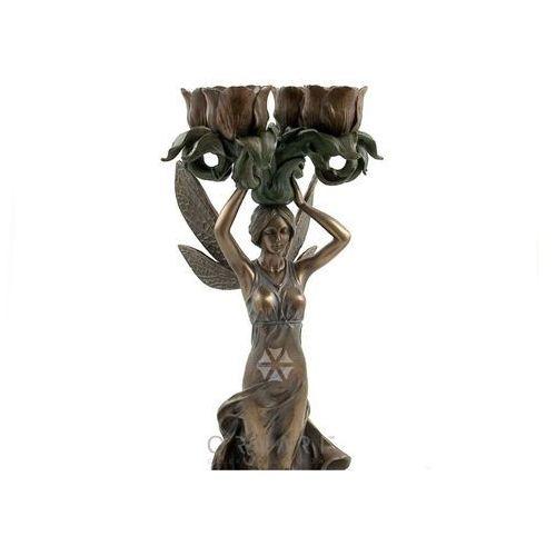 Secesyjny świecznik na cztery świece z elfem - , marki Veronese