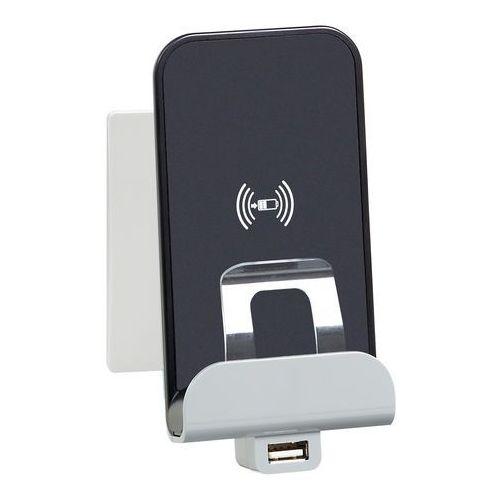 Ładowarka indukcyjna Legrand Niloe 664797 bezprzewodowa stacja ładująca + USB biała (3414970973764)