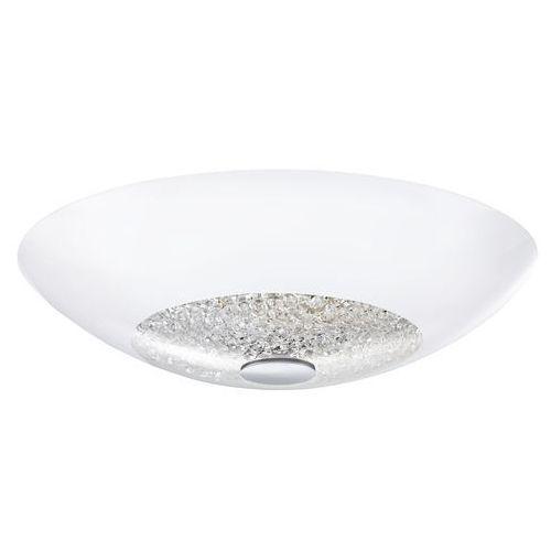 Plafon LAMPA sufitowa ELLERA 92712 Eglo szklana OPRAWA z kryształkami IP20 okrągła biała